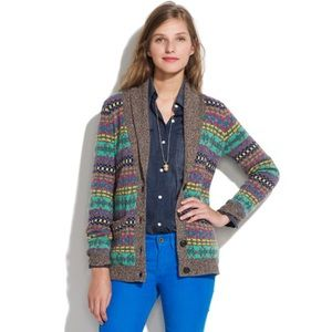 Madewell Color Track Cardigan